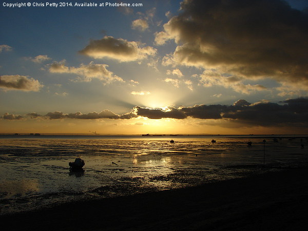 Thorpe Bay, Essex, Sunset Canvas print by Chris Petty