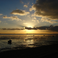 Buy canvas prints of Thorpe Bay, Essex, Sunset by Chris Petty