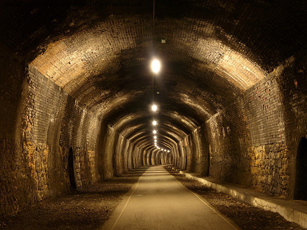 Cressbrook Tunnel, Monsal Trail, Derbyshire Canvas print by Chris Petty