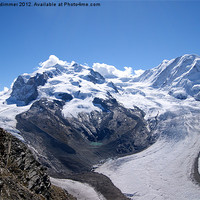 Buy canvas prints of A Swiss Glacier by gordon dimmer