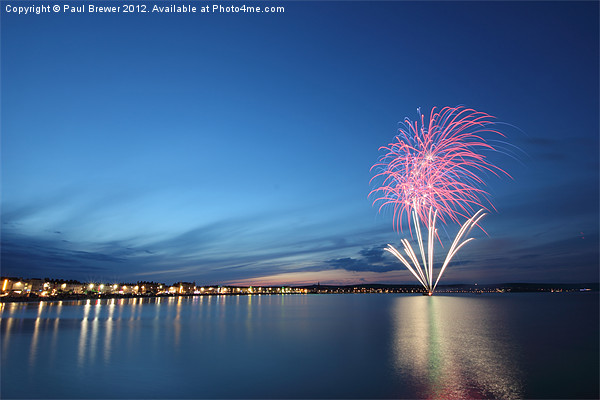 Weymouth Firework Display Canvas print by Paul Brewer