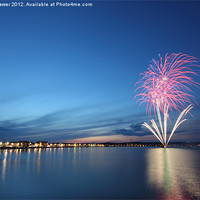 Buy canvas prints of Weymouth Firework Display by Paul Brewer