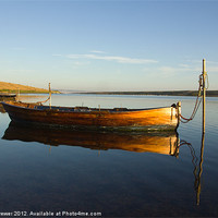Buy canvas prints of Reflections along The Fleet in Dorset by Paul Brewer