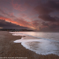 Buy canvas prints of Bowleaze Cove stormy morning by Paul Brewer