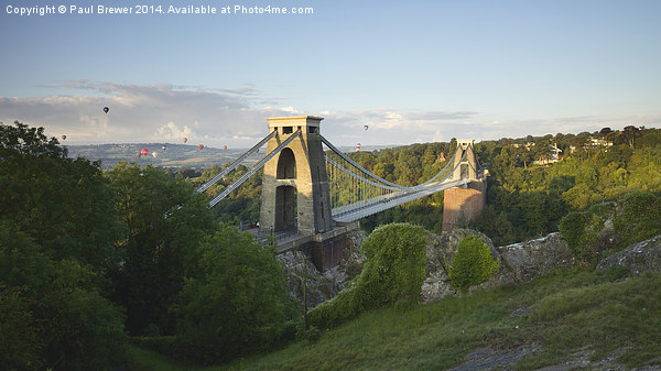 Clifton Suspension Bridge at Sunrise Canvas print by Paul Brewer