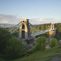 Buy canvas prints of  Clifton Suspension Bridge at Sunrise by Paul Brewer