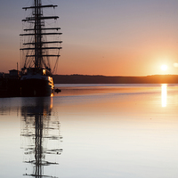 Buy canvas prints of  Tenacious Tall Ship Weymouth by Paul Brewer