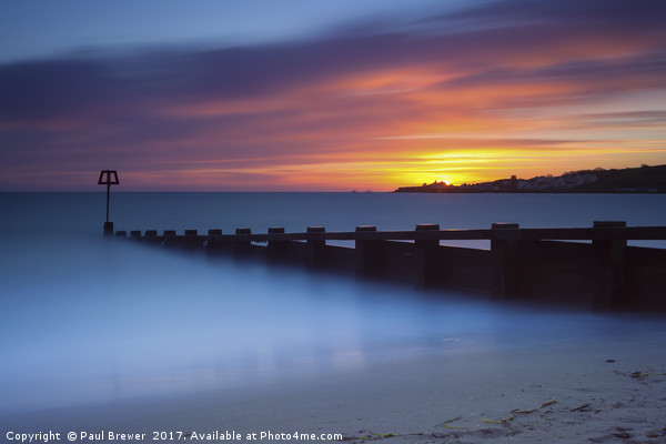 Swanage Seafront Sunrise Canvas Print by Paul Brewer