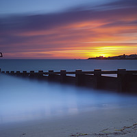Buy canvas prints of Swanage Seafront Sunrise by Paul Brewer