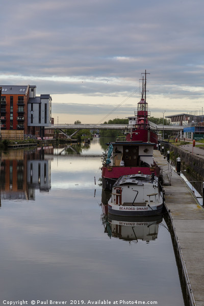 Gloucester Docks at Sunrise Canvas print by Paul Brewer