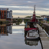 Buy canvas prints of Gloucester Docks at Sunrise by Paul Brewer