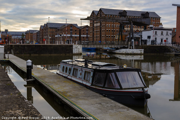 Gloucester Boats Docks  Canvas print by Paul Brewer