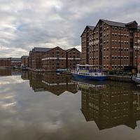 Buy canvas prints of National Waterways Museum Gloucester Docks  by Paul Brewer