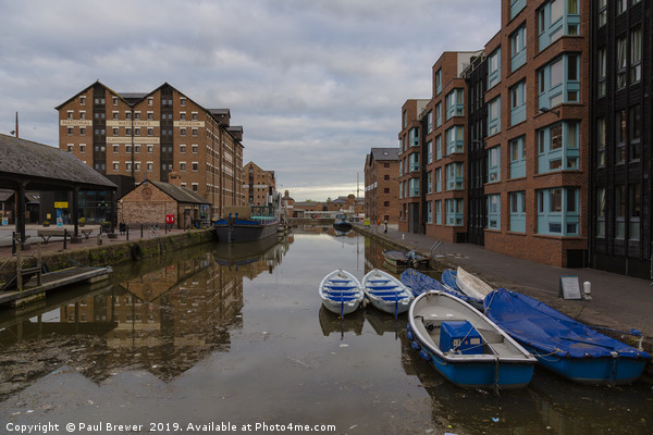 Gloucester Docks  Canvas print by Paul Brewer