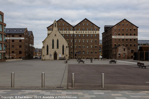 Mariners Church Gloucester Docks Canvas print by Paul Brewer