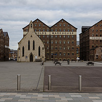 Buy canvas prints of Mariners Church Gloucester Docks by Paul Brewer