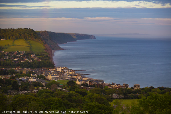 Sidmouth after the storm Canvas print by Paul Brewer