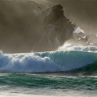 Buy canvas prints of Clogher Waves by barbara walsh