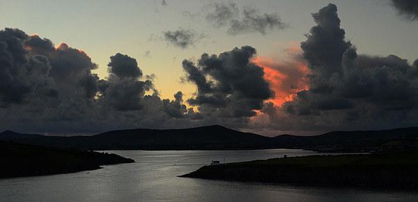 Sunset Dingle Bay Canvas print by barbara walsh