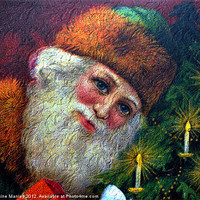 Buy canvas prints of Santa Clause by Elaine Manley