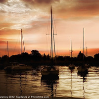 Buy canvas prints of Sunset Silouette by Elaine Manley