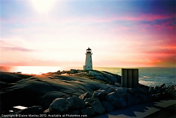 The Lighthouse Canvas print by Elaine Manley