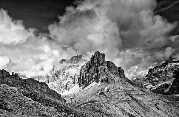 Dolomites from The Lagazuoi Tunnels Canvas print by Greg Marshall