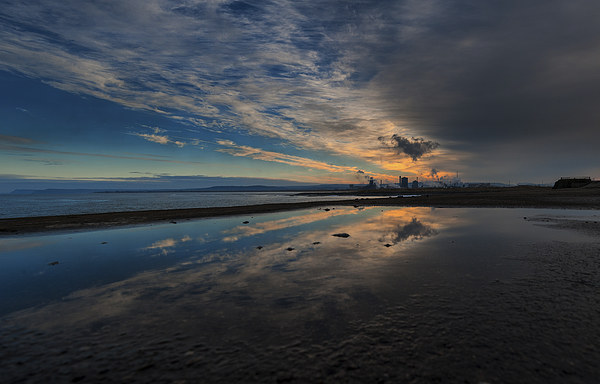 Redcar Steel works South Gare Canvas print by Greg Marshall
