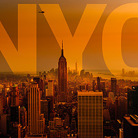 Buy canvas prints of NYC Manhattan sunset  - just my type by Greg Marshall