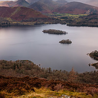 Buy canvas prints of View to Cat Bells, Newlands Horseshoe Wainrights, by Greg Marshall