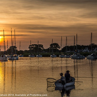 Buy canvas prints of Sunset Fishermen by Phil Wareham