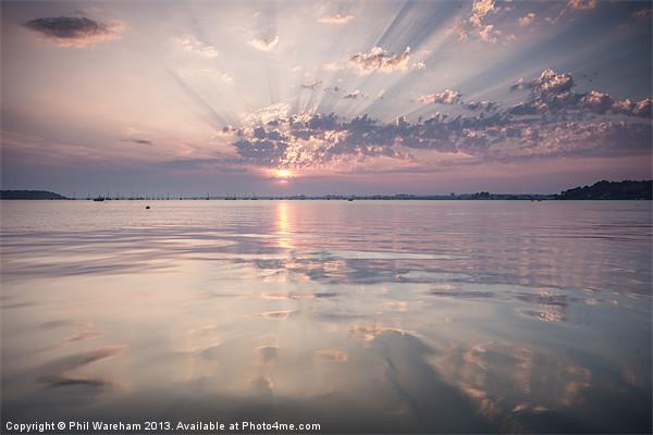 Sunday Sandbanks Sunset Canvas print by Phil Wareham