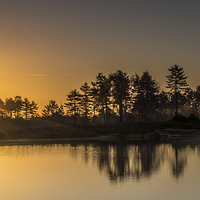 Buy canvas prints of Sunrise at Mogshade by Phil Wareham