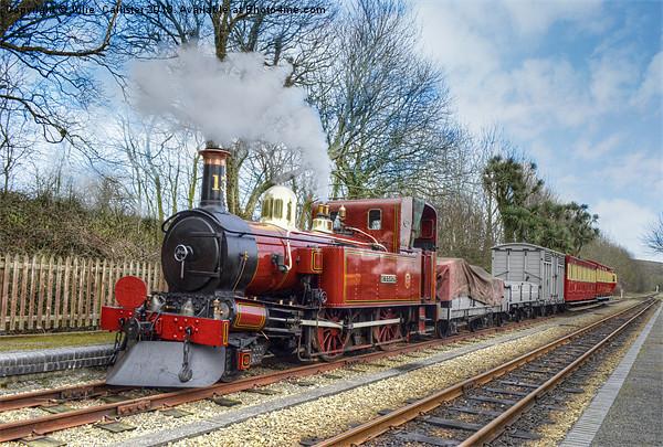 Steam Train Canvas print by Julie  Chambers