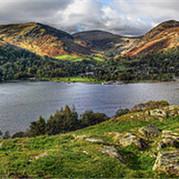 Buy canvas prints of Glenridding on Ullswater by Donald Parsons