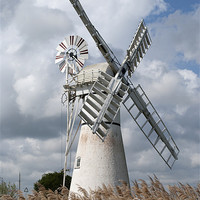 Buy canvas prints of Thurne Drainage Mill, Norfolk. by Damien VC