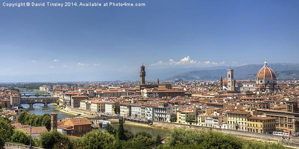Florence Panorama Framed Mounted Print by David Tinsley