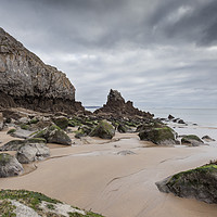 Buy canvas prints of Barafundle Bay by David Tinsley