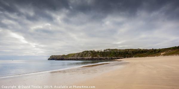 Barafundle Bay Panorama  Canvas Print by David Tinsley