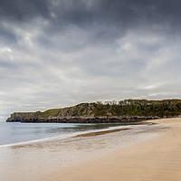 Buy canvas prints of Barafundle Bay Panorama  by David Tinsley