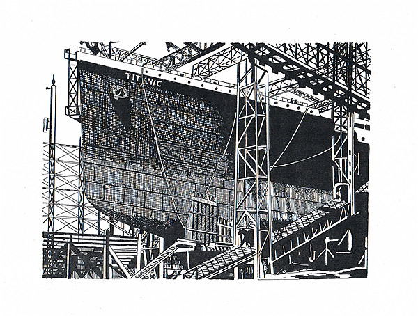 Building the unsinkable Canvas print by Gordon and Gillian McFarland
