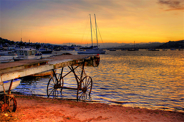 Teignmouth sunset Canvas print by kevin wise