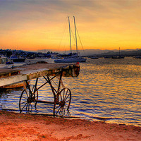 Buy canvas prints of Teignmouth sunset by kevin wise