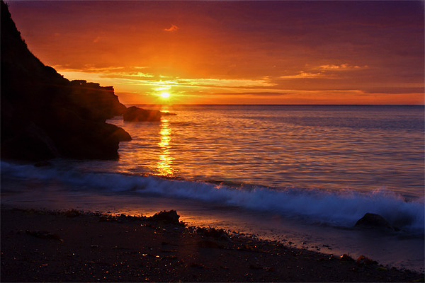 Devon Cove Canvas print by kevin wise