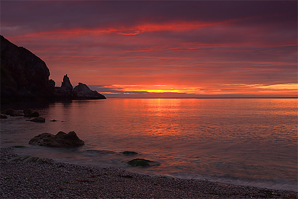 Redgate beach sunrise Canvas print by kevin wise