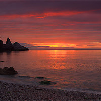 Buy canvas prints of Redgate beach sunrise by kevin wise