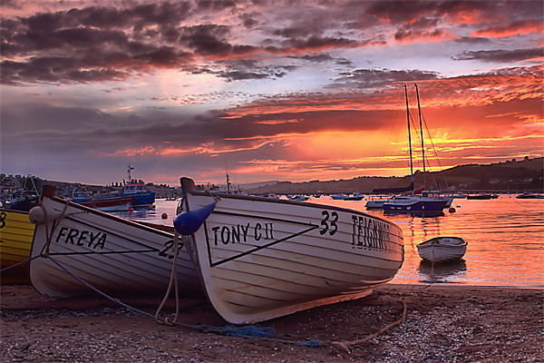 Teignmouth sunset 2 Canvas print by kevin wise