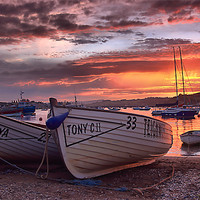 Buy canvas prints of Teignmouth sunset 2 by kevin wise