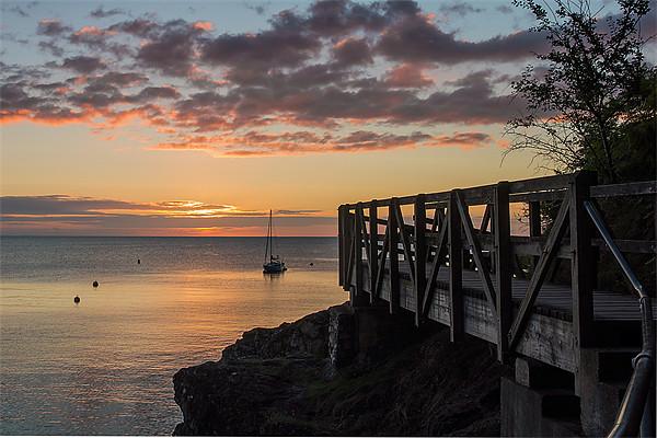 Babbacombe Walkway Canvas print by kevin wise
