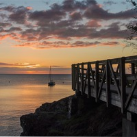 Buy canvas prints of Babbacombe Walkway by kevin wise